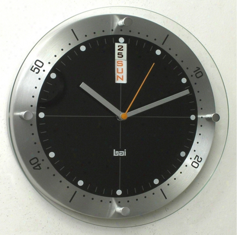 "Timemaster Aluminum With Wicked Dial 12"" Wall Clock (p7963)"