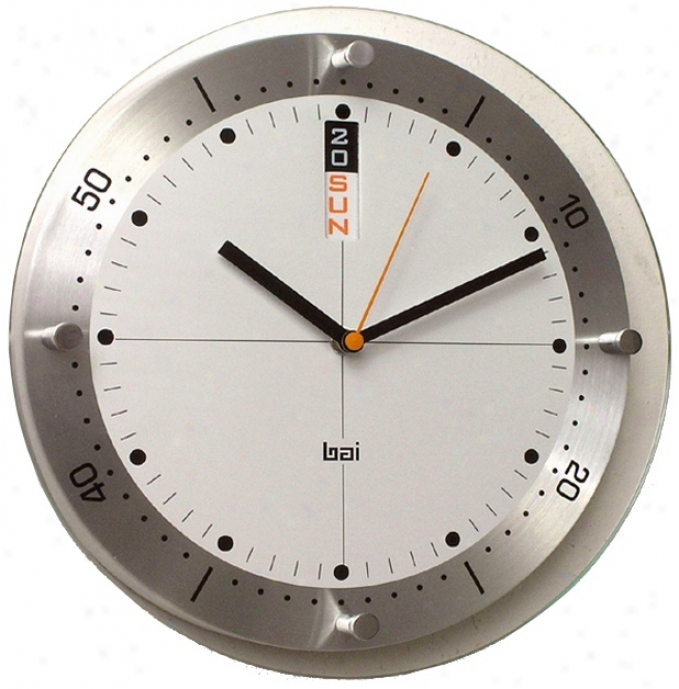 "Timemaster Day/date 11"" Wide Wall Clock (n1914)"