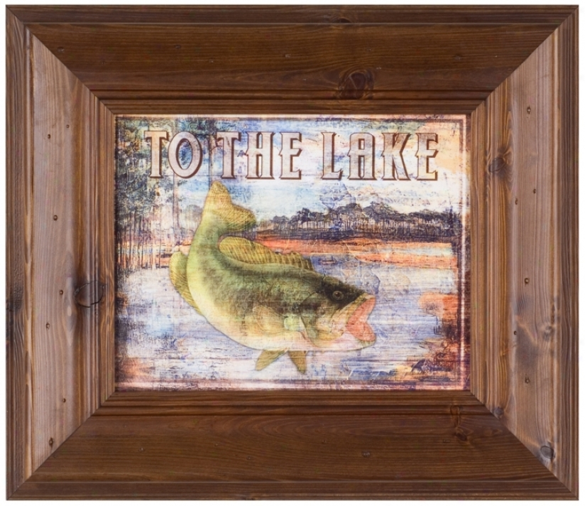 "To The Lake 22 1/2"" Wide Framed Wall Art (t0250)"