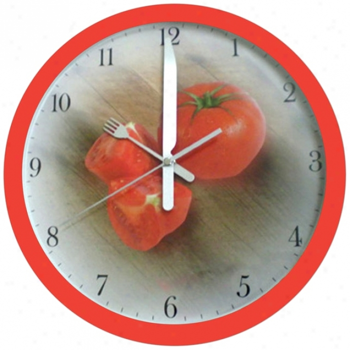 "Tomato 12"" Wide Wall Cllock (m794)"