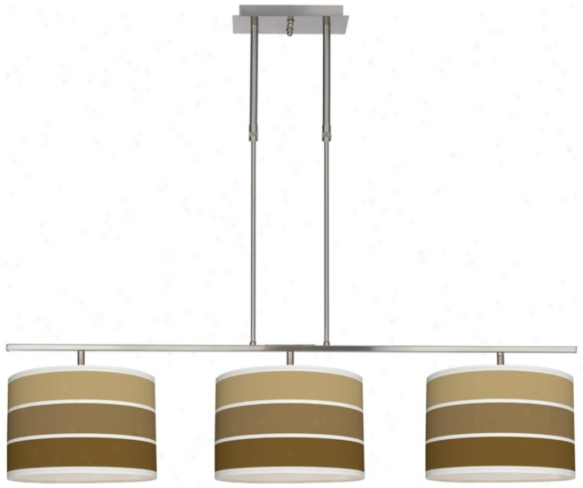 "Tones Of Chestnut 46"" Wide Bar Hanging 3 Drum Ialand Light (m3236-u4659)"