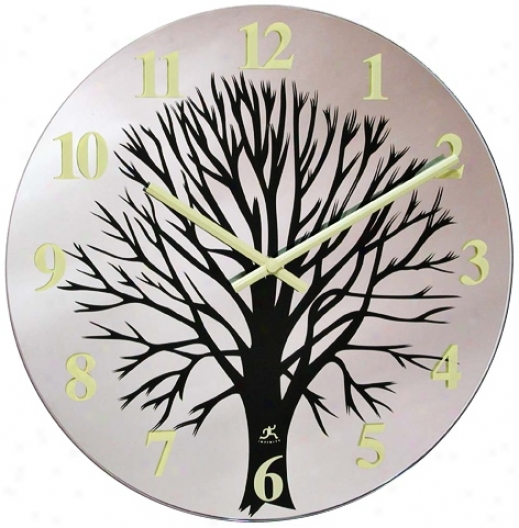 "Topiary Glass 14"" Wide Round Wall Clock (r6788)"