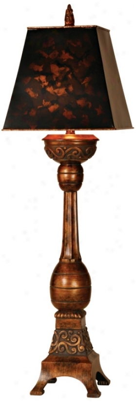 Tortoise Shell Darkness Tall Buffet Accent Lamp (m5431)