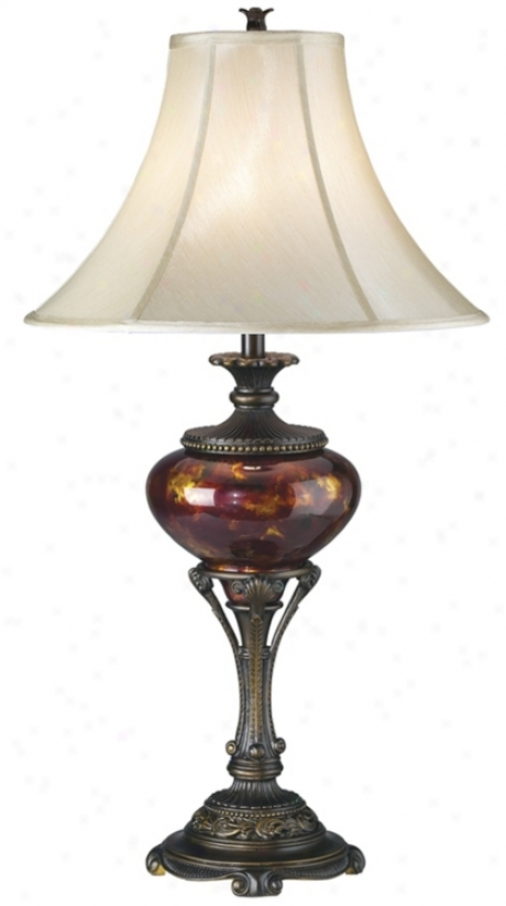 Tortoise Shell Urn Table Lamp (70040)