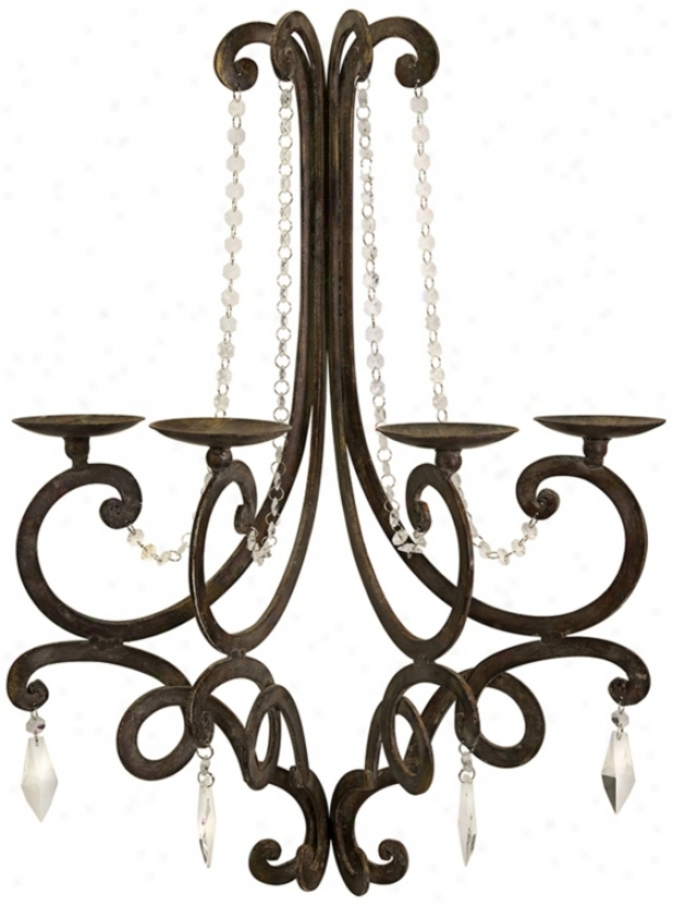 Orally transmitted Hatmony Chandelier Wall Sconce Candle Holder (t9651)