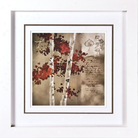 "Transitional Ii Print Under Glass 21 1/4"" Square Wall Art (h1928)"