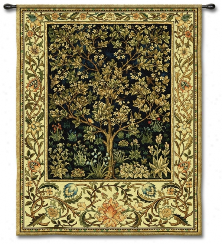"Tree Alive 71"" High Wall Tapestry (j8656)"