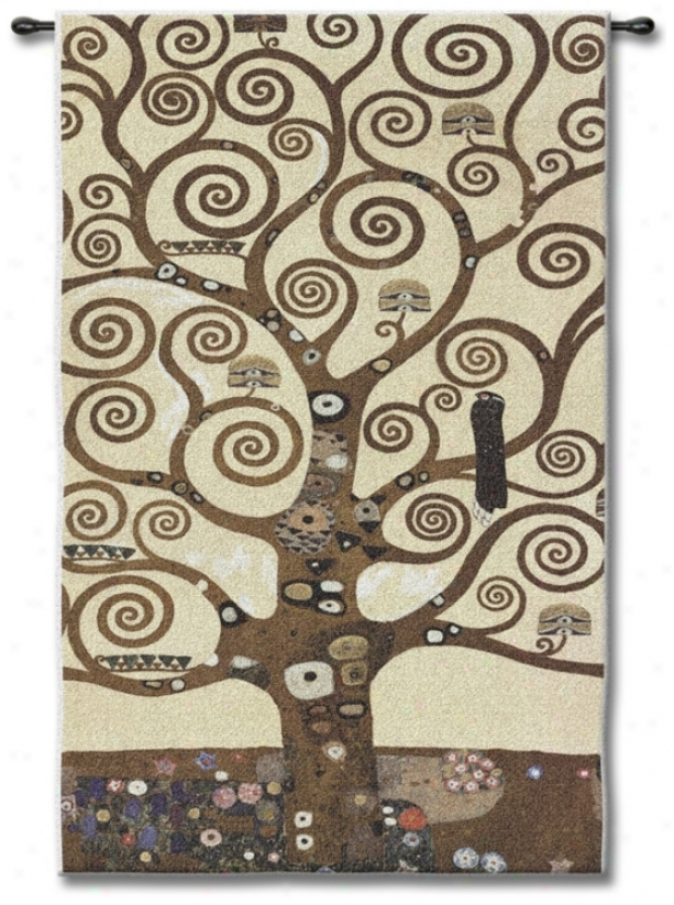 """Tree Of Life 48"""" High Wall Tapestry (j8898)"""
