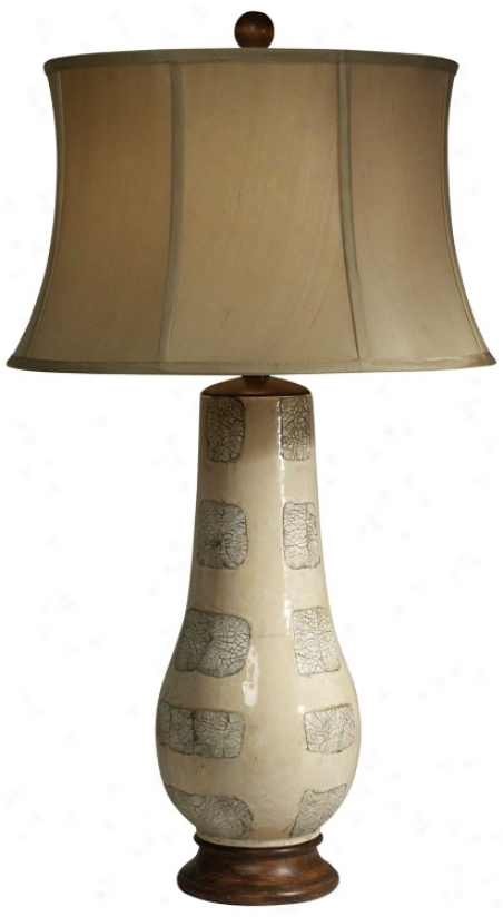 Trees In Winter Ceramic Vase Table Lamp By The Natural Ligyt (f9384)