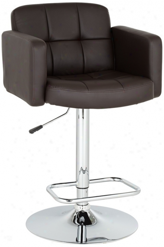 Trek Larbe Adjustable Height Espresso Bar Stool (u4463)