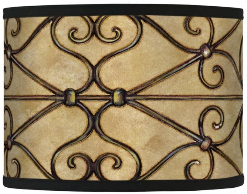Trellis Hearts Giclee Drum Shade 13.5x13.5x10 (spider) (37869-h5334)