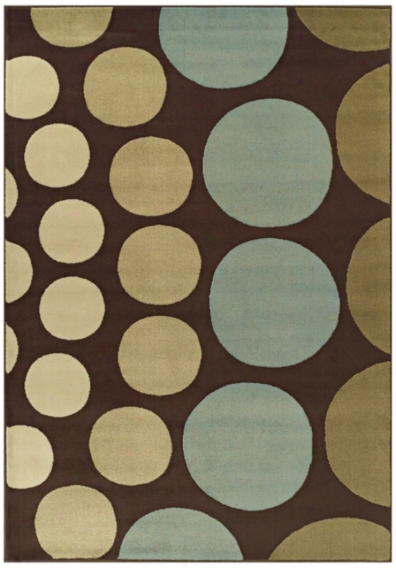 Tremont Collection Drops Chocolate Arrea Rug (n5674)