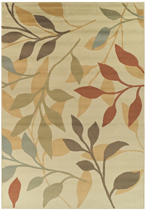 Tremont Collectoon Leaflets Ivory Area Rug (n4311)