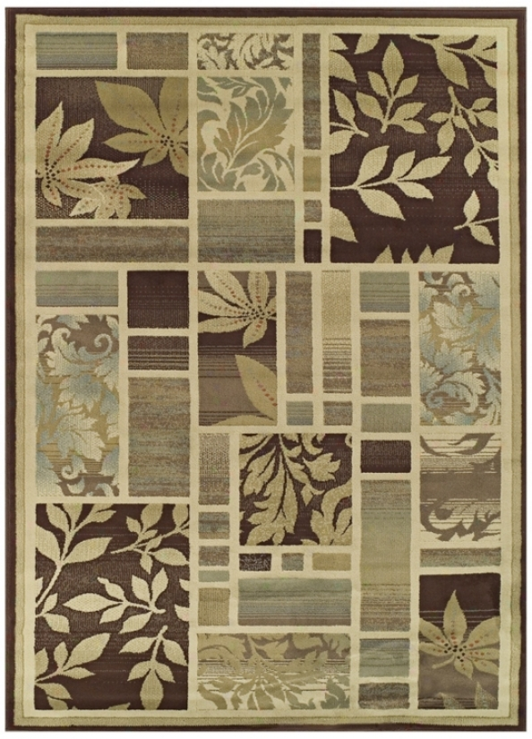 Tremont Collection Leafy Screens Chocolate 8x10 Area Rug (n4355)