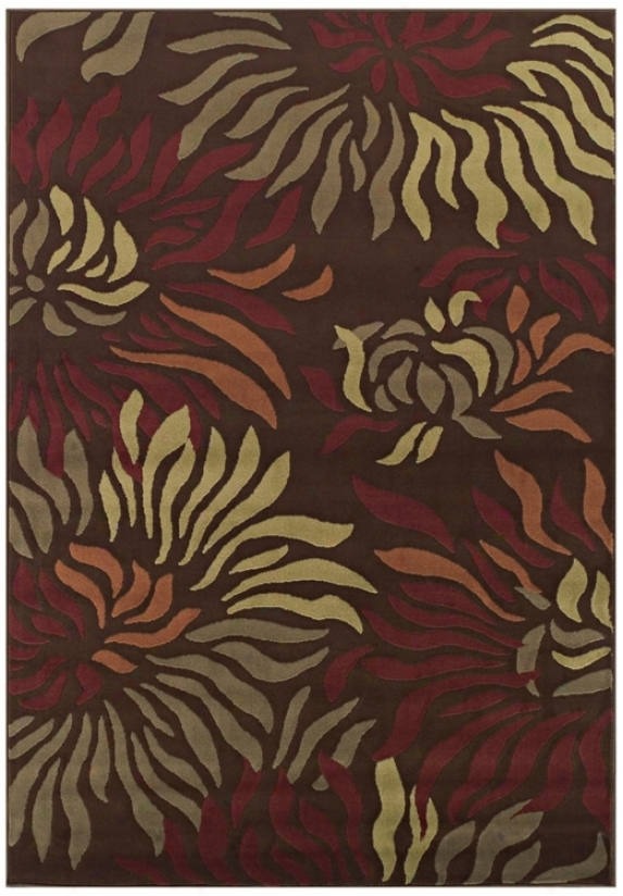Tremont Collectiom Rippling Petals Chocolate 8x10 Area Ru (n4348)