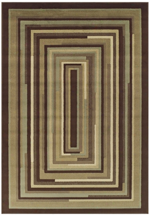 Tremont Collection Stacked Planes Chocolate 8x10 Area Rug (n4675)