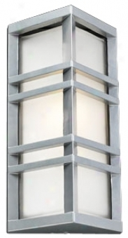 "Trestle Architectutal Silver 13 1/4"" Oppressive Outdoor Wall Light (h4509)"