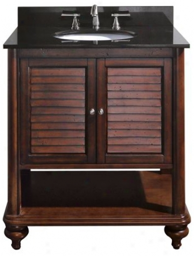 "Tropica Antique Brown 31"" Wide Sink Vanity (r7026)"