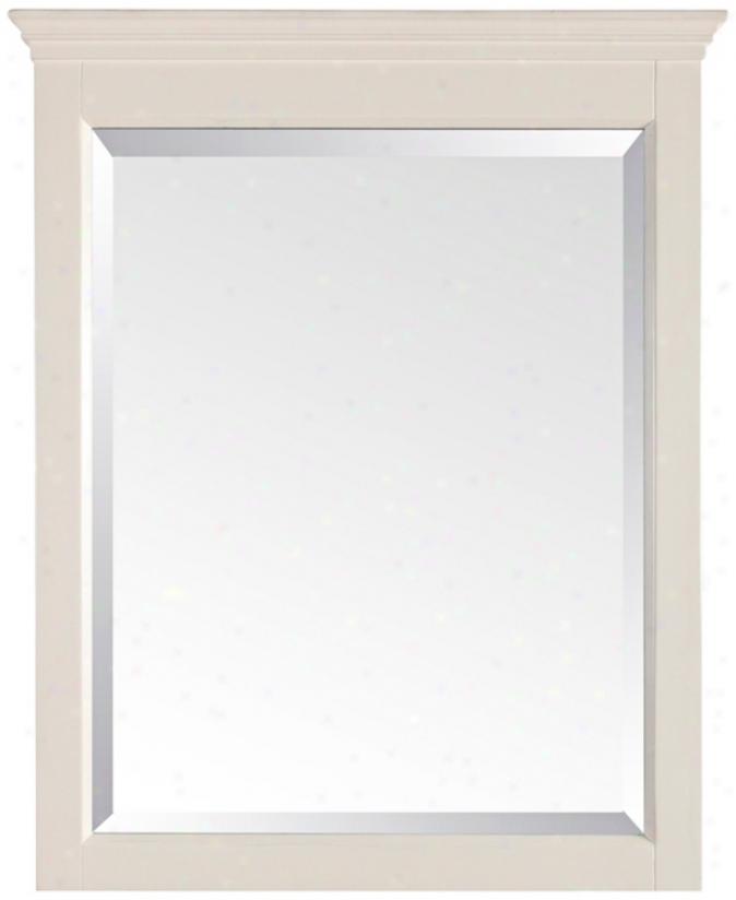 """Tropica Antique White 32"""" High High Wall Mirror (r9024)"""