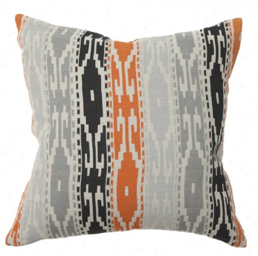 Tunisia Printed Striped Throw Pillow (r7913)