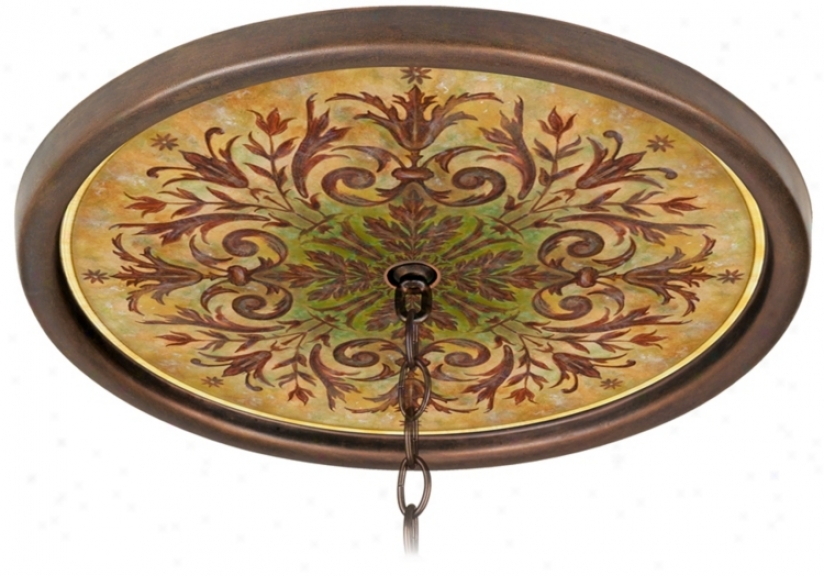 "Tuscan Basil 16"" Wide Bronze 1&quo Opening Medallion (g8171-g7694)"