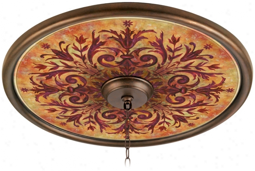 "Tuscan Be roused 24"" Wide Bronze Finish Ceiling Medallion (02777-g7142)"