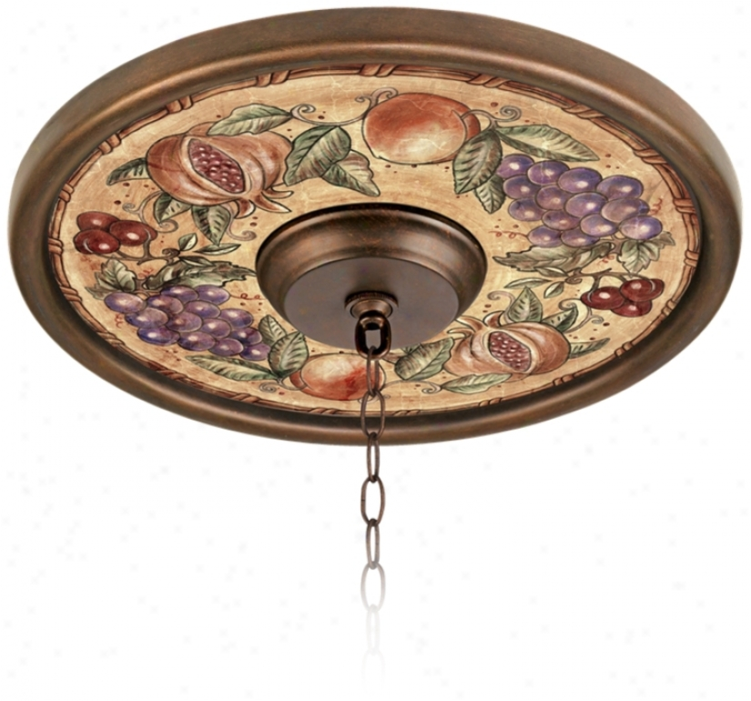 "Tuscan Fruit 16"" Wide Bronze Finish Ceiling Medallion (02975-h8827)"