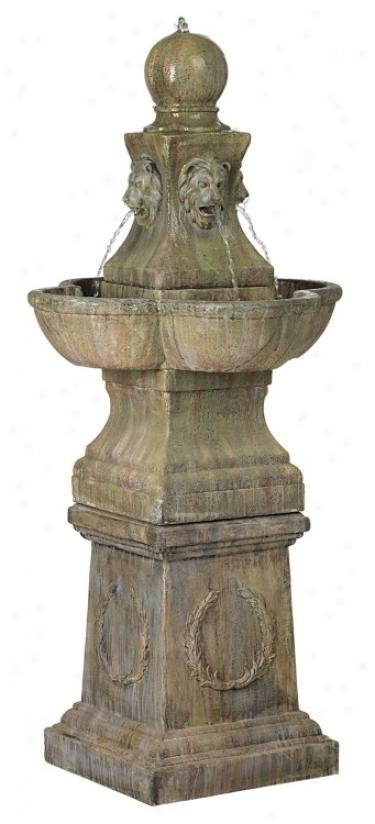 Tuscan Garden Pedestal Outdoor Fountain (60920)