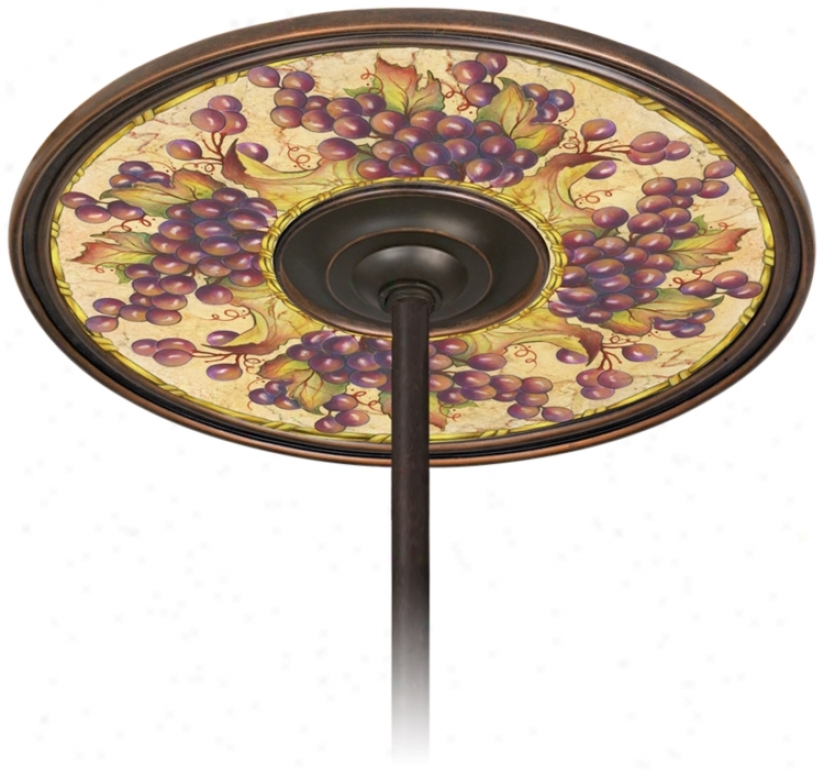 "Tuscan Grapes 6 1/2"" Opening Bronze Ceiling Fan Medallion (h3293-h8871)"