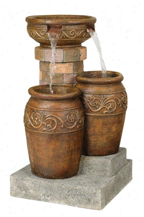Tuscan Patio Floor Fountain (55499)
