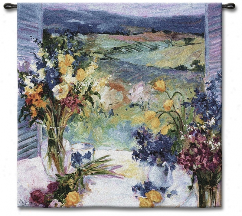"Tuscan Wildflowers Small 35"" Square Wall Tapestry (j8684)"
