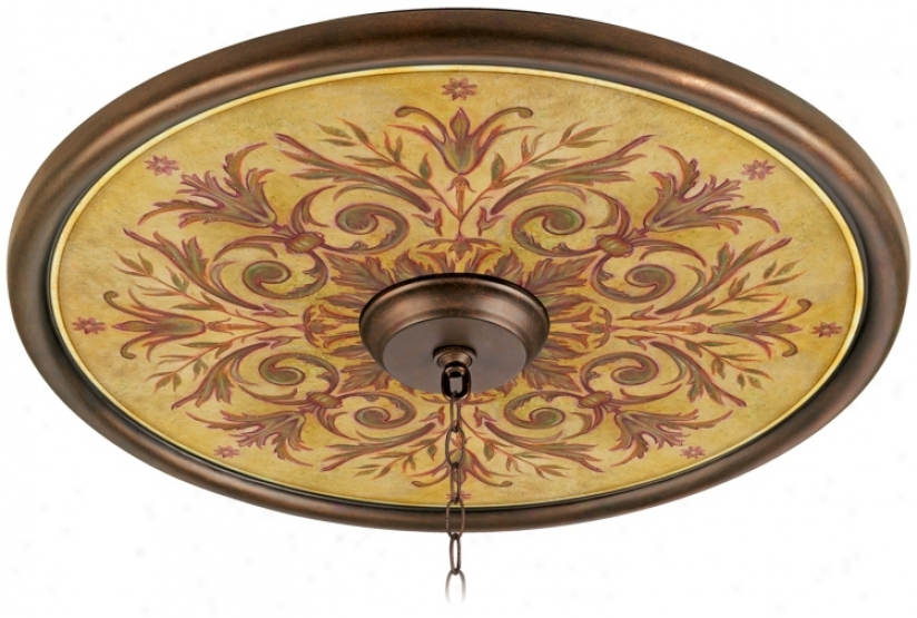 "Tuscan Wine 24"" Wide Bronze Finish Ceiling Medallion (02777-g7141)"