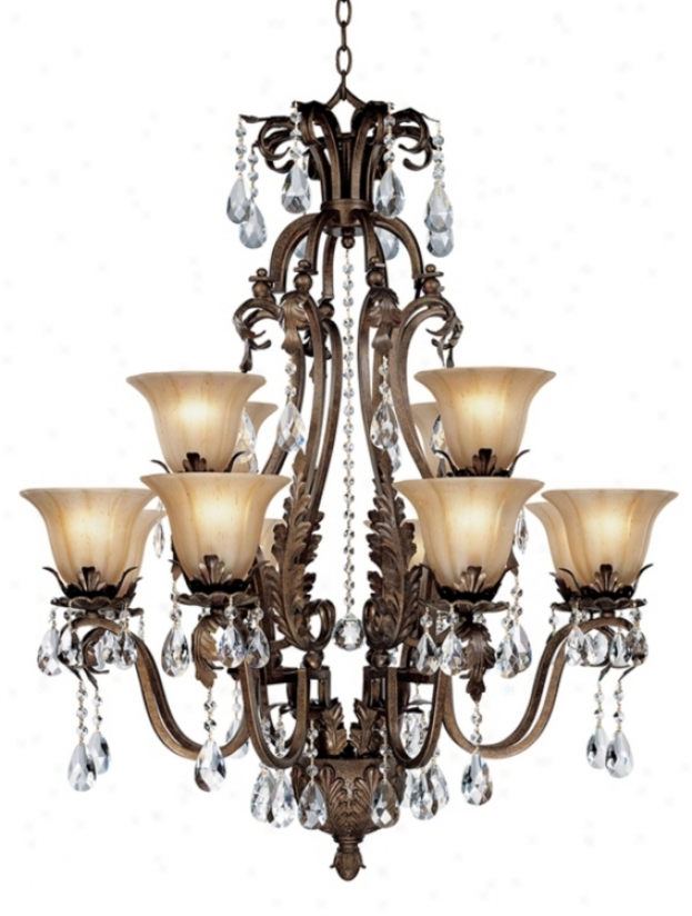 Twelve Light With Crystal Accents Chandelier (44422)