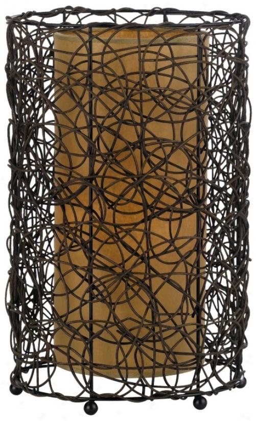 Twig Rattan Accent Lamp (p6681)