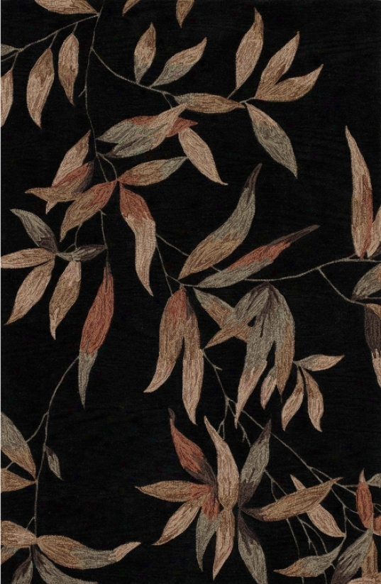 "Twilight Garden Black 3'6""x5'6"" Area Rug (j6282)"