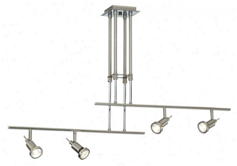 Two Rail Adjustable 4-light Ceiling Fixture (k6811)