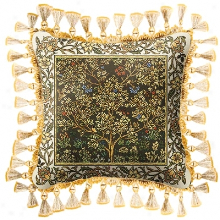 Umber Gold Tree Of Life Stress  Pillow (j8177)