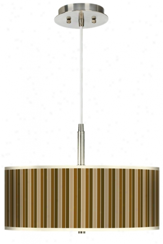 "Umber Stripes 16"" Wde Giclee Pendant Light (g9447-h8886)"