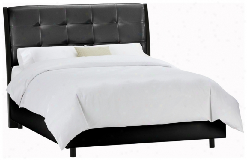 Upholstered Headboa5d Blaco Vinyl Bed (king) (p2434)