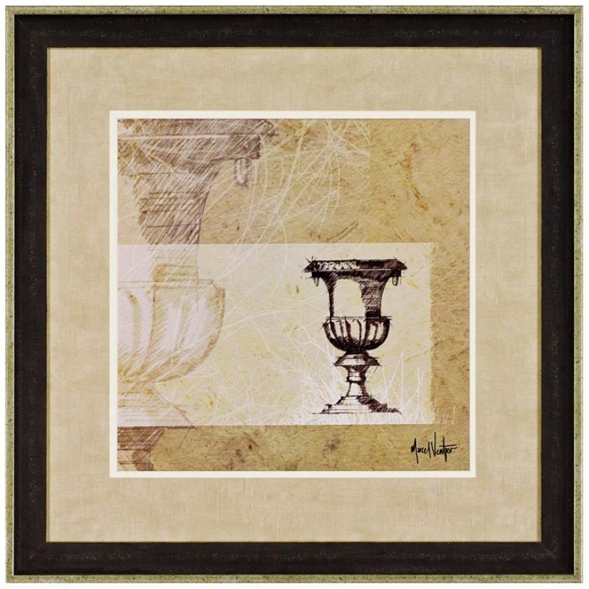"Urn Vase 28"" Square Wall Art (j5597)"
