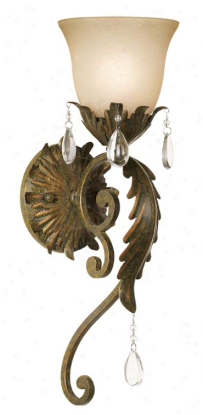 """Valentina Collection 19 1/2"""" High Iron Leaf Wall Sconce (95309)"""