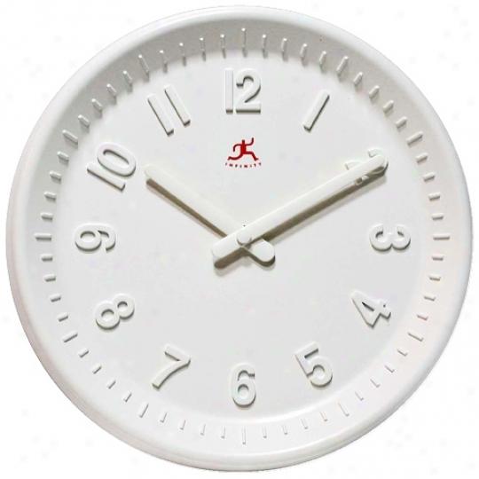 """Vanilla 10"""" Wide Round Wall Clock (r6880)"""