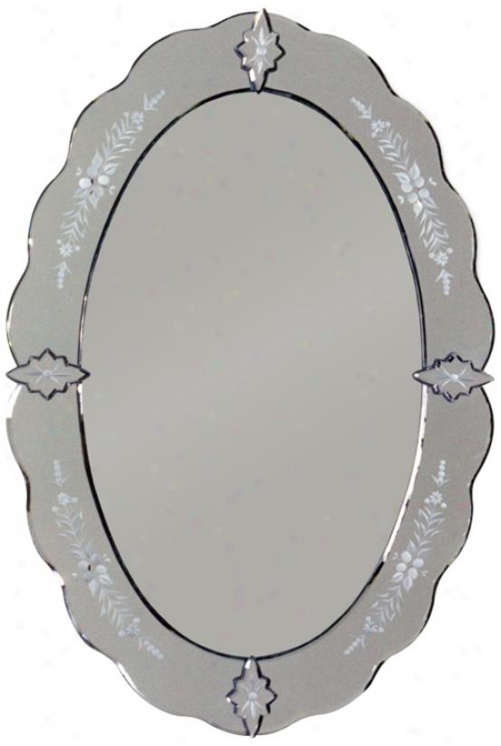 "Venetiam Oval 30"" High Wall Mirror (m3528)"