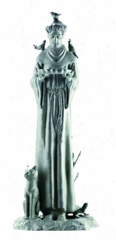 Verdigris End Willliamsburg St. Francis Garden Statuary (60436)