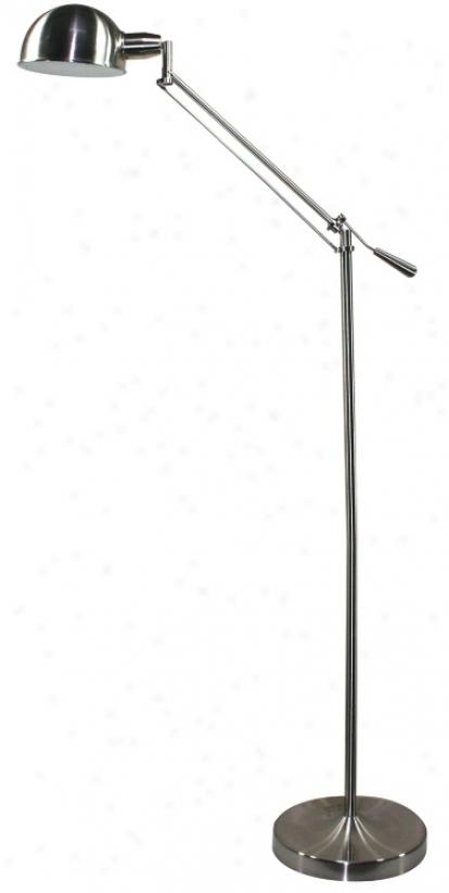 Verilux Brookfield Brushed Nickel Finish Floor Lamp (g1700)