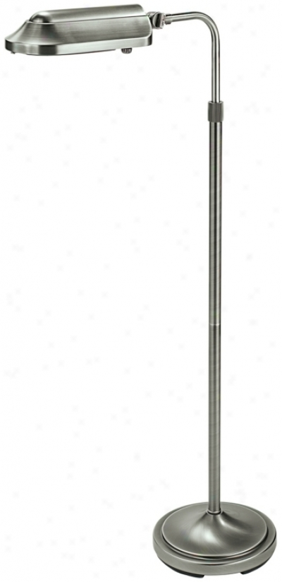 Verilux heritage antique brushed nickel pharmacy floor for Verilux heritage floor lamp antique brass