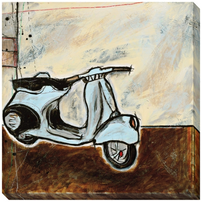 "Vespa I Limited Edition Giclee 40"" Square Wall Art (l0455)"