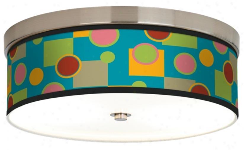 Vibrant Retro Medley Giclee Energy Efficient Ceiling Light (h8796-j1350)