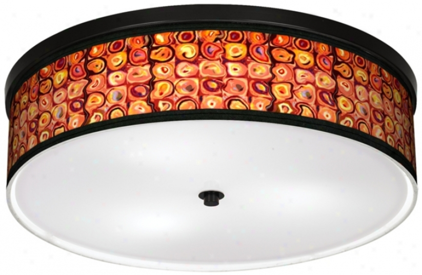 "Vibrating Colors 20 1/4"" Wide Cfl Bronze Ceiling Light (k2832-k8539)"