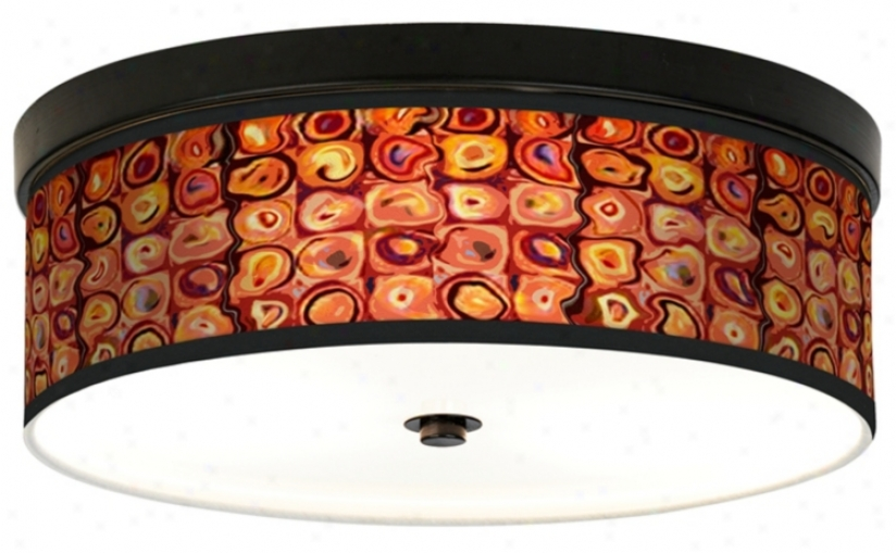 Vibrating Colors Giclee Energy Efficient Bronze Ceiling Light (h8795-j3733)